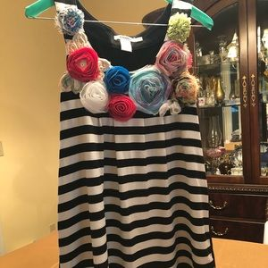 striped an floral top